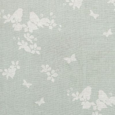 Duck Egg Silhouette Apple Blossom Linen – 316