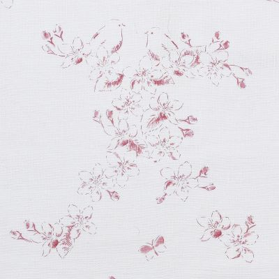 Curtains in Raspberry Red Toile 223cm x 133cm