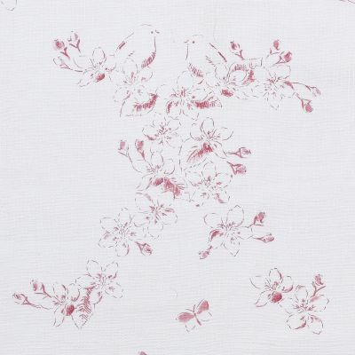 Curtains in Raspberry Red Toile 200cm x 207cm