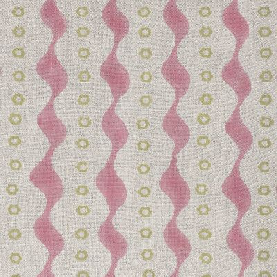 Pink Green Bloomsbury Linen Fabric – 331