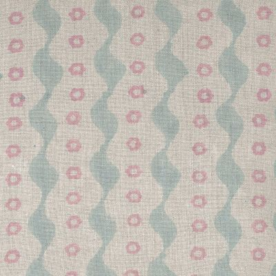 Blue Pink Bloomsbury Linen Fabric – 334