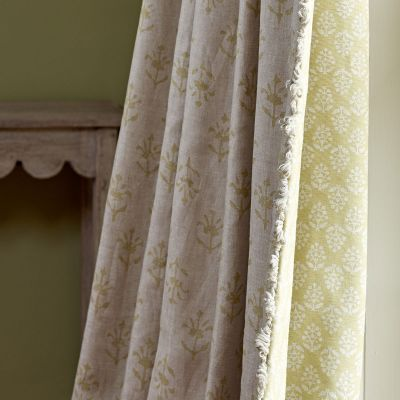 Summer Green Moonflower Linen - 337