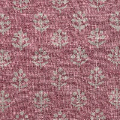 Reverse Faded Rose Megha Rustic Linen - 354 (stonewashed)  2.7m panel