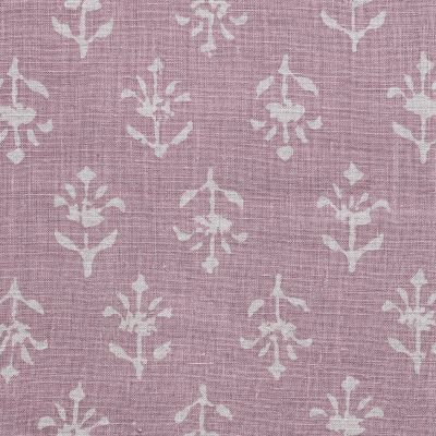 Violet Reverse Moonflower Printed Linen – 357