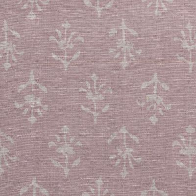 Dusky Pink Reverse Moonflower Printed Linen Swatch