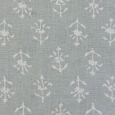 Reverse Smokey Blue Moonflower Linen Sale - Z/359