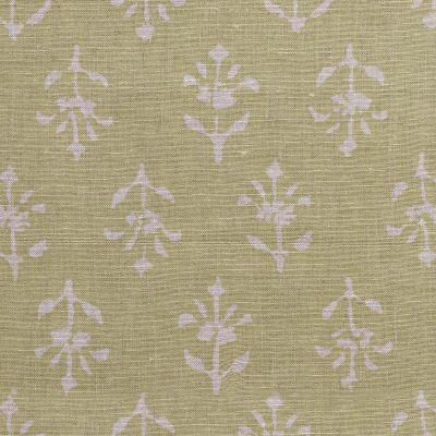 Summer Green Reverse Moonflower Linen - z360