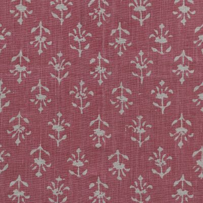 Indian Red Small Moonflower Linen - 333R