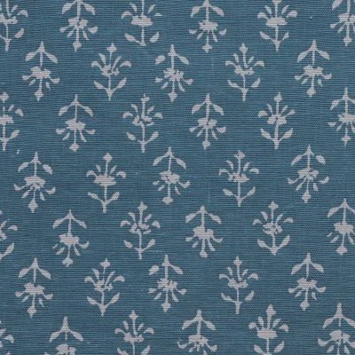 Marine Blue Small Reverse Moonflower Cotton – 379