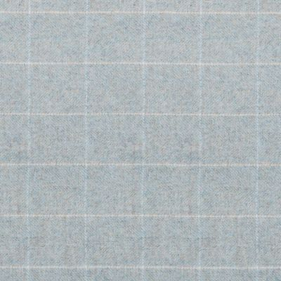 Duck Egg Ivory Check Herringbone Wool Tweed – 402