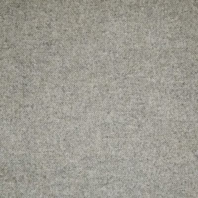 Grey Linen Herringbone Wool Tweed – 404