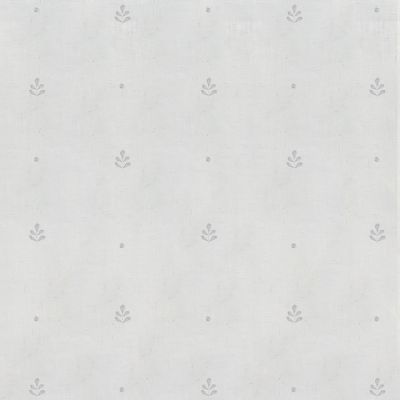 White Leaf Embroidered Linen Voile – 422