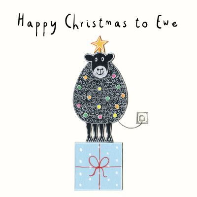Happy Christmas to Ewe Christmas Card  (pack of 6)