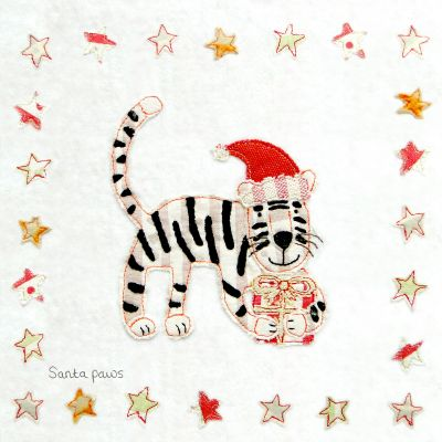 Christmas Card - Santa Paws (Small, pack of 6)