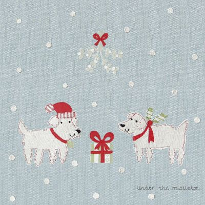 Christmas Card - Under the Mistletoe (