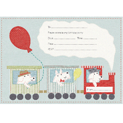 Train Party Invitations (Pack of 6)