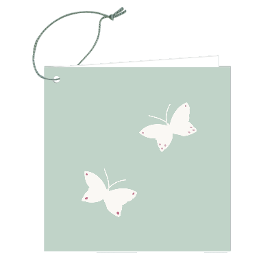 Gift Tag - Butterfly Pair