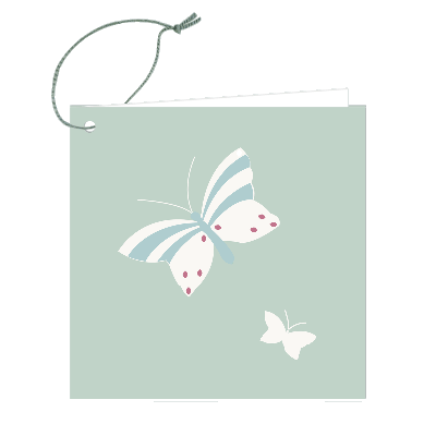 Gift Tag - Butterfly