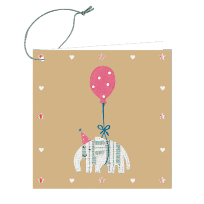 Floating Elephant Gift Tag