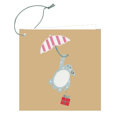 Gift Tag - Floating Penguin