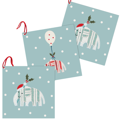Christmas Gift Tags - Elephants