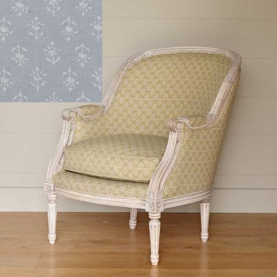 Ex-Display Small Library Chair - Smokey Blue Moonflower