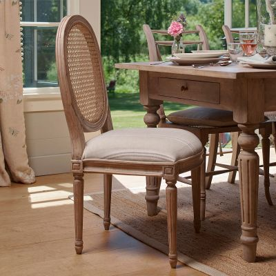 Oval Cane Back Dining Chair - Seconds