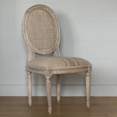 Oval Cane Back Dining Chair