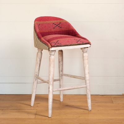 Jaisalmer Stripe Upholstered Bar Stool
