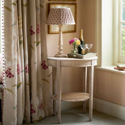 Oval Table with Caned Shelf