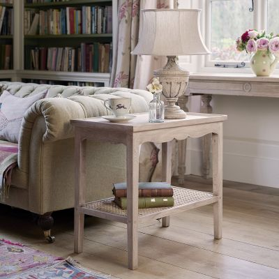 Caned Sofa Table