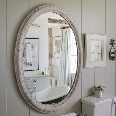 Seconds - Large Carved Oval Mirror
