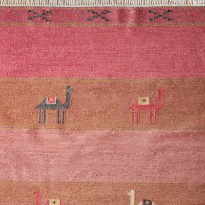 Hand-woven Wool Kilim - Camels & Stripes