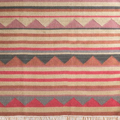 Handwoven Wool Kilim - Biarritz - Small