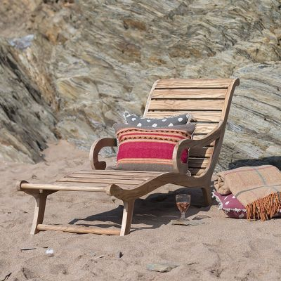 Seconds Teak Garden Lounger