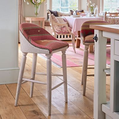 Pushkar Rose Upholstered Bar Stool