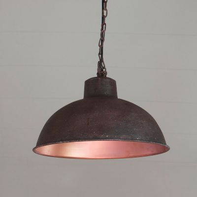Metal Pendant Lamp - Rust