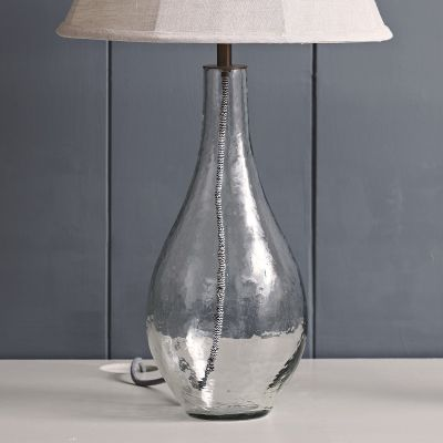 Hammered Glass Vase Lamp Base