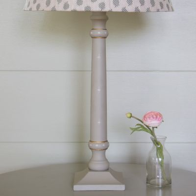 Lamp Base - Std. Stick /Grey - White Star