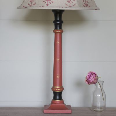 Standard Stick Lamp Base Red/Gold Star