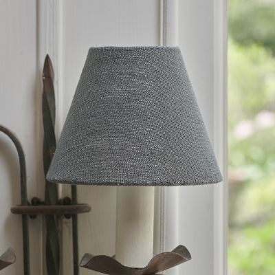 Charcoal Linen Framed Lampshade - 5""
