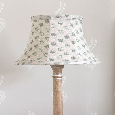 "Sail Blue Nina 12"" Framed Lampshade"