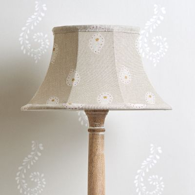 "Grey Mika 12"" Framed Lampshade"