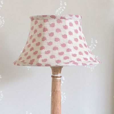 Red Nina Framed Linen Lampshade