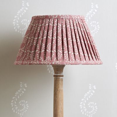 Rose Sprig Pleated Lampshade