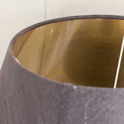 """Charcoal Linen 18"""" Empire Lampshade"""