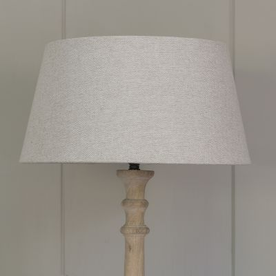"Plain Grey Cotton Empire 14"" Lampshade"