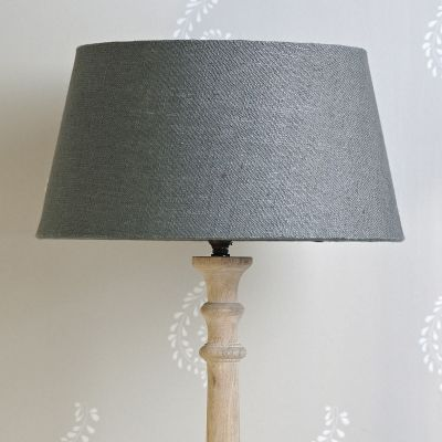 "Plain Charcoal Linen Empire 14"" Lampshade"