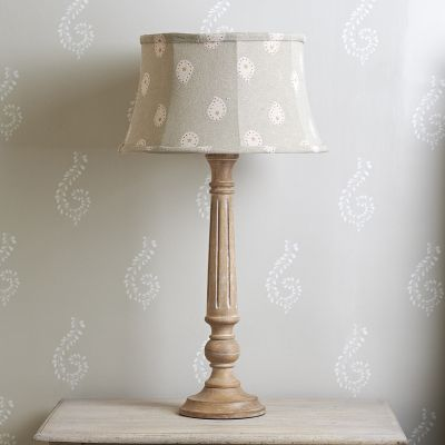 "Dove Grey Mika 14"" Framed Lampshade"