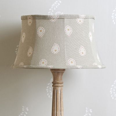 Framed Linen Lampshade Sail Red Lullaby
